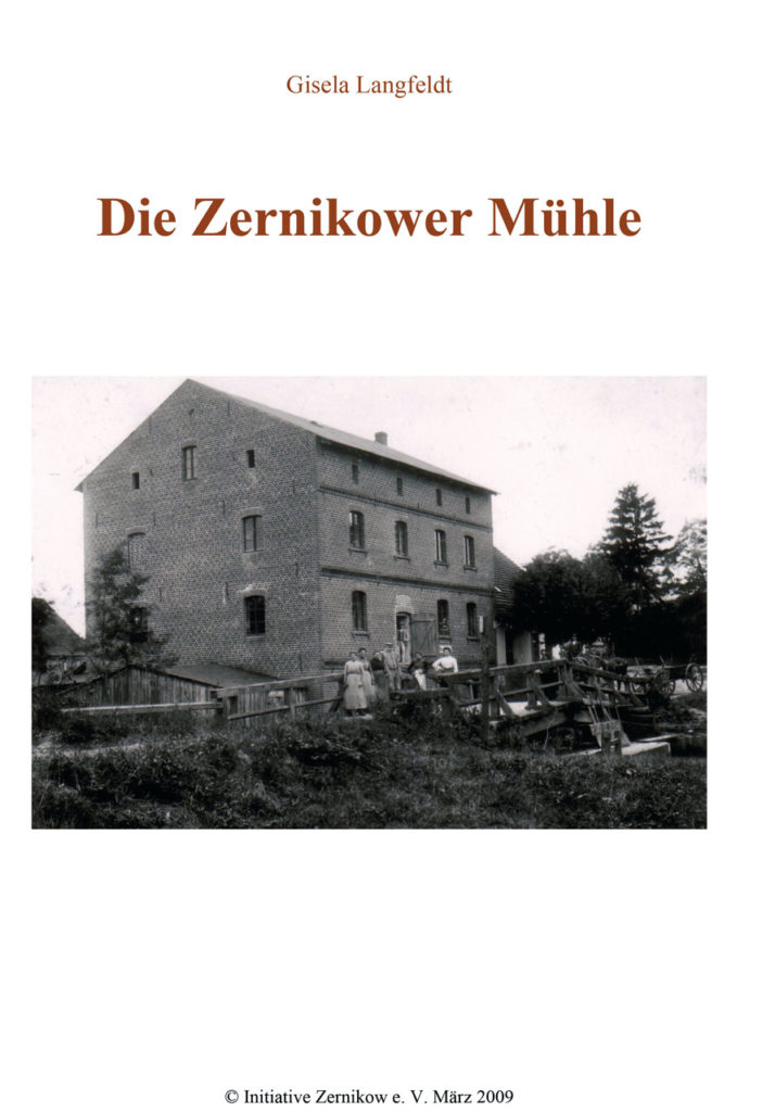 Titelblatt - Die Zernikower Mühle