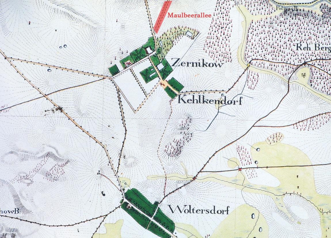 Karte Maulbeerallee