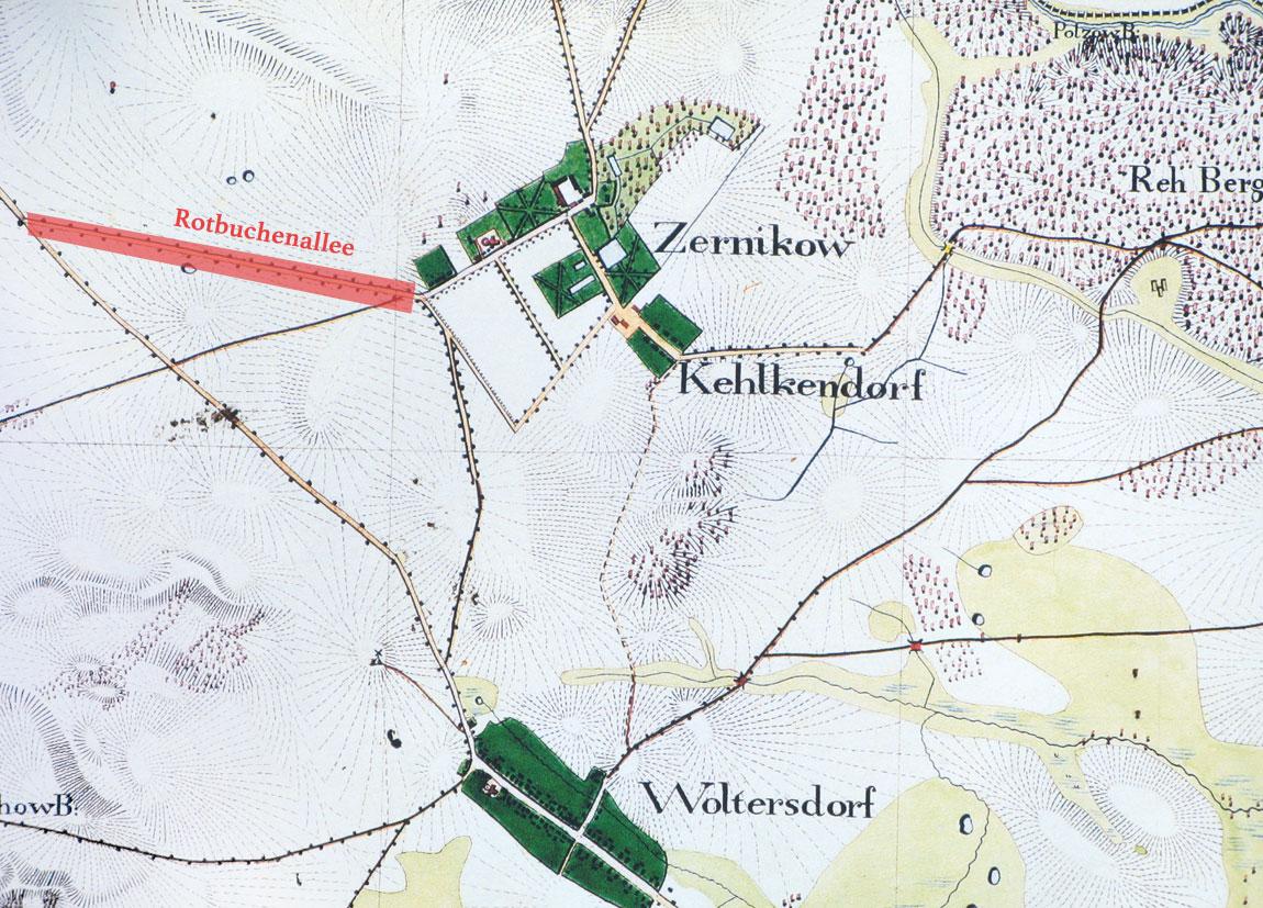 Karte Rotbuchenallee